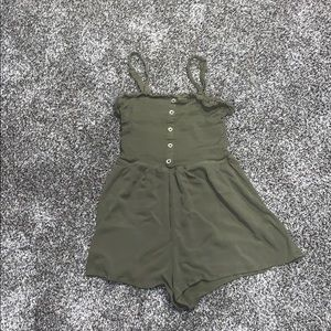 Green romper. Worn once. Great condition